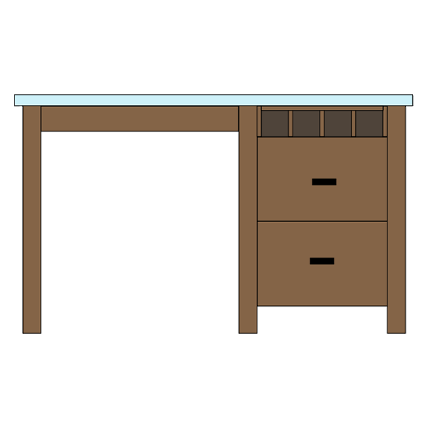 Wine Cubbies & Double Drawer