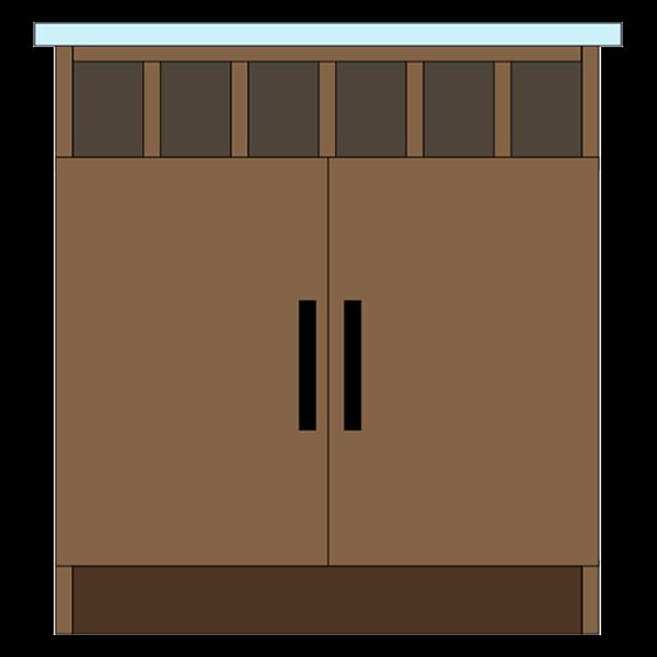 Wine Cubbies & Double Doors
