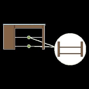 Fixed Bottom & Middle Shelf