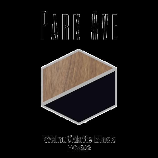 Park Ave Walnut Matte Black